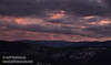 Pink and orange colors creep through the mostly grey clouds over the mountains soon after sunset  (11/2/2013, Wrights Rd.)<br /> EF24-105mm f/4L IS USM @ 67mm f5.0 1/99s ISO1600