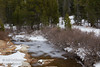 The partially-frozen South Fork of Silver Creek, surrounded by light snow and dark green trees (11/2/2013, Wrights Rd.)<br /> EF24-105mm f/4L IS USM @ 58mm f8 1/197s ISO400