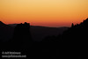 Post-sunset red-orange glow over a silhouetted mountain ridge (11/2/2013, Wrights Rd.)<br /> EF100-400mm f/4.5-5.6L IS USM @ 275mm f6.4 1/197s ISO1600