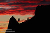 Red sunset clouds over a silhouetted ridge with a spire and trees (11/2/2013, Wrights Rd.)<br /> EF100-400mm f/4.5-5.6L IS USM @ 250mm f8 1/197s ISO400