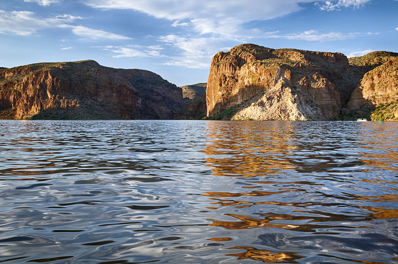 Flooded Salt River Canyon