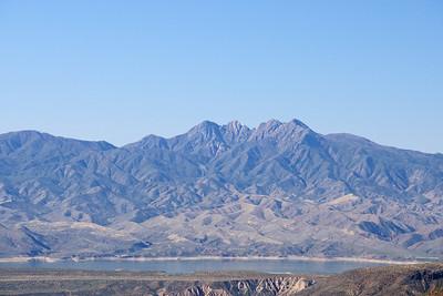 Four Peaks above Roosevelt Lake