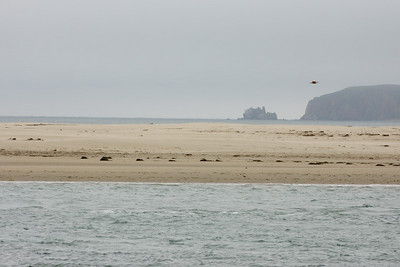 Chimney rock across the bay