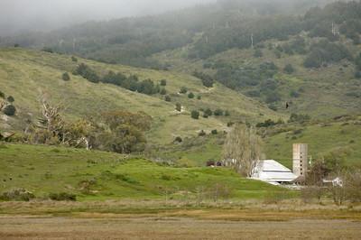 Farm among the hills