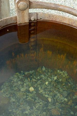 Bucket full of rainwater