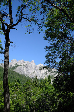 Castle Crags from the State Park viewpoint