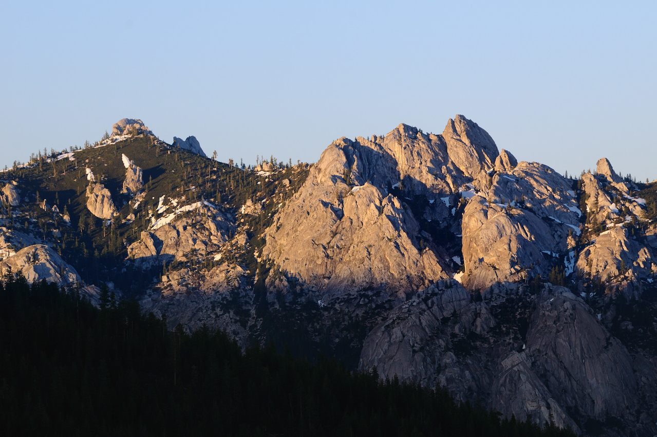 Crags at Sunset