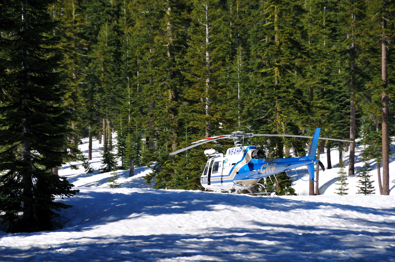 Rescue Helicopter at Mt. Shasta