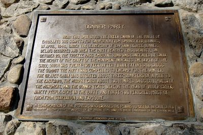 Plaque at Donner Memorial