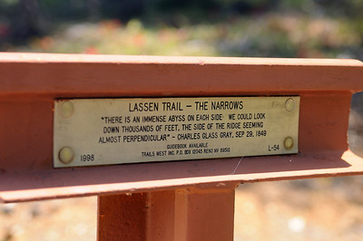 Lassen Trail Marker