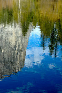 Mount Watkins reflected in Mirror Lake