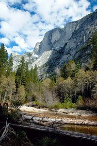 Half Dome from the trail to Mirror Lake (pond)