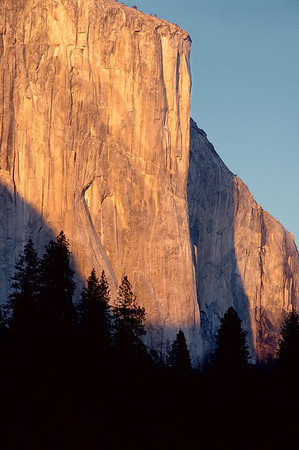 "The ""heart"" of El Capitan at sunset"