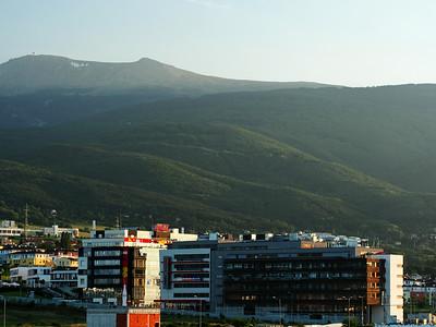Vitosha Mountains from my hotel room