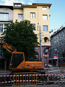 Construction near Vitosha Street