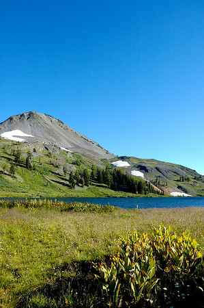 Upper Highland Lake and Hiram Peak