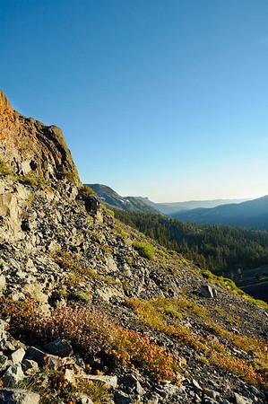 Rocky slope of Hiram Peak