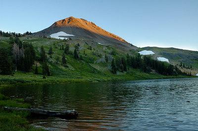 Hiram Peak at sunset