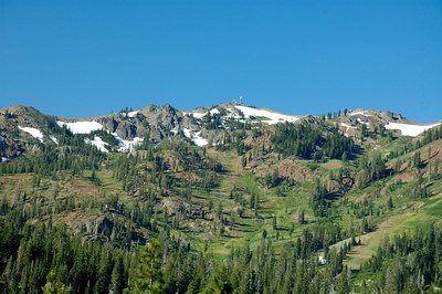 Alpine Meadows Ski Resort - minus most of the snow
