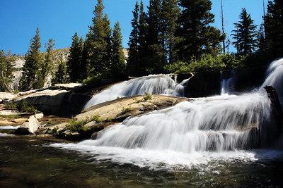 Waterfall close to Twin Lakes