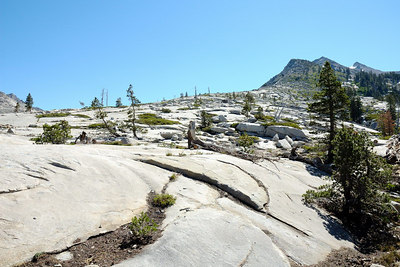 Bare granite ridge below Mt. Price