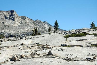 Crossing the ridge between the creeks