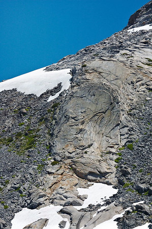 Exfoliating granite on the slope of Mt. Price