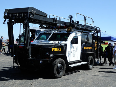 SWAT truck with airplane access rack
