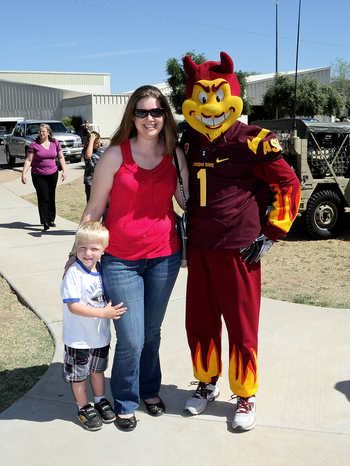 Posing with Sparky