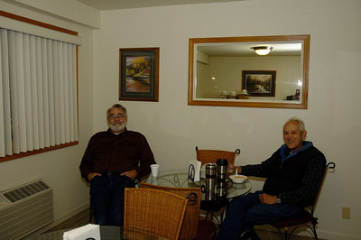 Ron and Brian H at breakfast