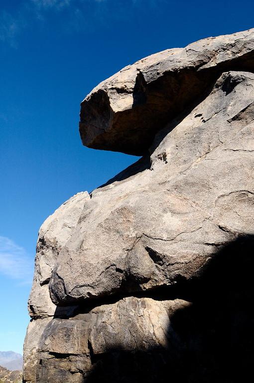 Rock near the summit of Teutonia Peak
