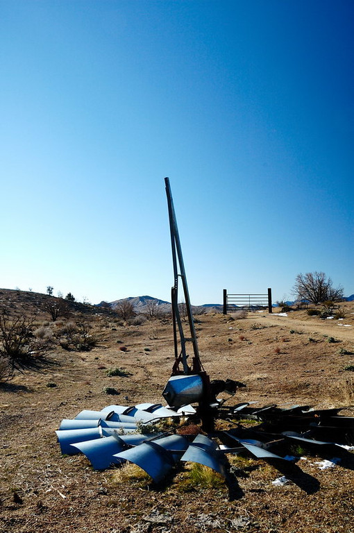 Windmill remains at Mid Hills