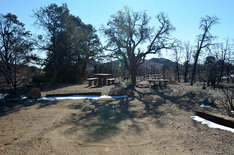 The burned up campground