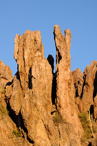 Spires above Peralta Canyon