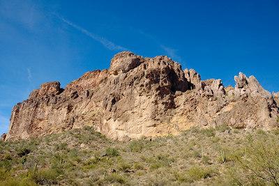 Dacite cliffs in the sunlight