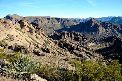 Looking back down Peralta Canyon