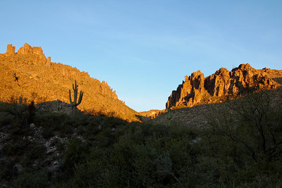 Morning light in Peralta Canyon