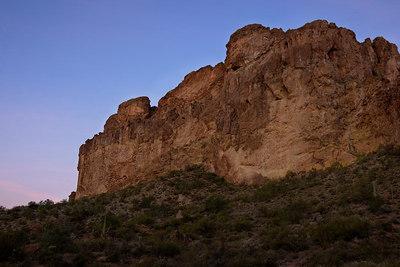 Dacite cliffs at the trailhead