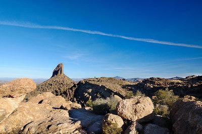 Bluffs above the pass