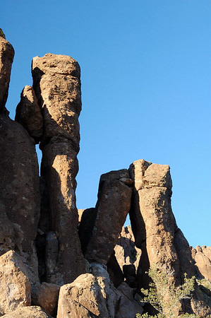 Rock columns near the pass