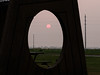 Sunset through the shade structure