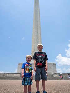 Boys at the Monument