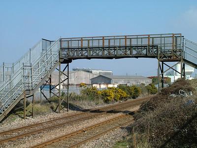 Railway footbridges, Carn Brea, Cornwall, March 2006