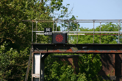 East end of Honiton station - new LED signal head SE4800 on original bracket