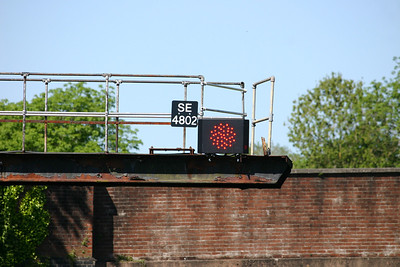 East end of Honiton station - new LED signal head SE4802 on original bracket