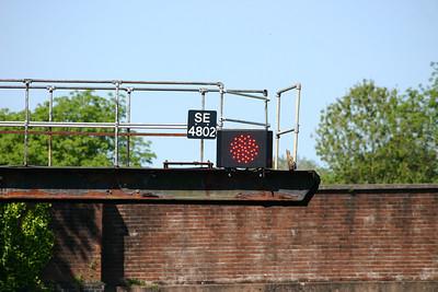 East end of Honiton station - new LED signal head SE4802 on original bracket