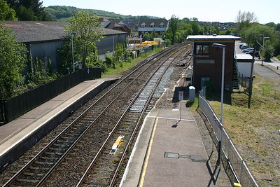 Looking West from Honiton station footbridge