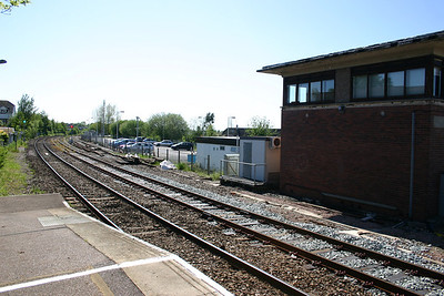 Honiton signal box and view West