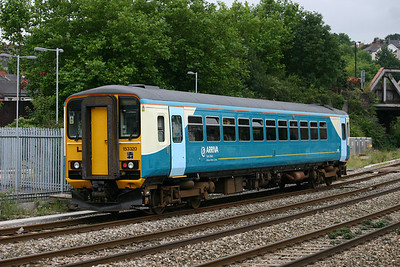 "153320 - Arriva Trains Wales / Wales & West ""Heart of Wales"" orange"