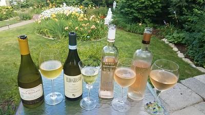 daylillies and wine
